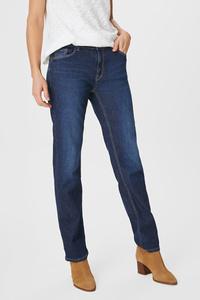 C&A Straight Jeans-Bio-Baumwolle, Blau, Größe: 34