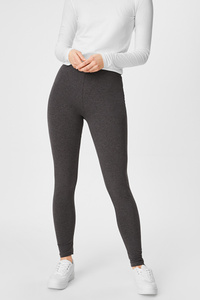 C&A Leggings-Bio-Baumwolle-2er Pack, Grau, Größe: XS