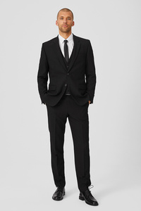 C&A Anzug mit Zweithose-Regular Fit-4 teilig, Schwarz, Größe: 24