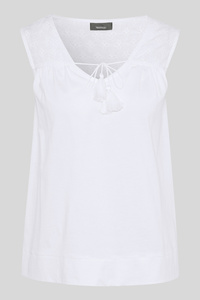 C&A Top-Bio-Baumwolle, Weiß, Größe: S