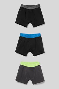 C&A Multipack 3er-Boxershorts-Bio-Baumwolle, Schwarz, Größe: 170-176