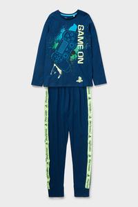 C&A PlayStation-Pyjama-Bio-Baumwolle-2 teilig, Blau, Größe: 134