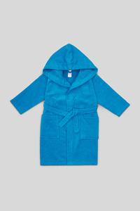 C&A Bademantel-Bio-Baumwolle, Blau, Größe: 92