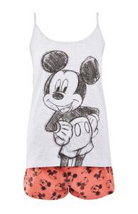 """""""Disney Micky Maus"""" Pyjamaset mit Zeichnung und weißem Trägertop"""