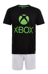 """Kurzes schwarz-graues """"Xbox"""" Pyjamaset"""