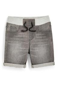 Graue Schlupf-Jeansshorts (kleine Jungen)