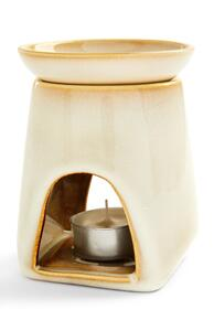 Cremefarbene Ölduftlampe aus Keramik