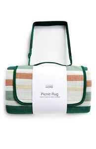 Grün gestreifte Picknickdecke
