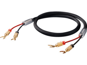OEHLBACH High-End-Lautsprecherkabel, mit Kabelschuh-Verbinder XXL FusionTwo Kabset 2x 3 m Kabelschuhkabel, Schwarz
