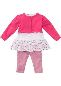 Baby Bolero + T-Shirt + Leggings (3-tlg.) Bio-Baumwolle