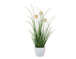 Grasbusch Kunstpflanze creme