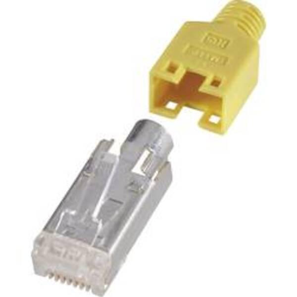 RJ45-Steckverbinder, geschirmt CAT5e Stecker, gerade Pole: 8P8C Gelb Hirose Electronic HRS8GE10 10 St.