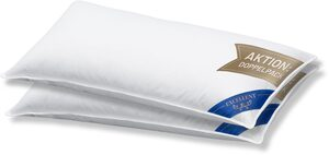 3-Kammer-Kopfkissen, »VENEDIG«, Excellent, Füllung: 60% Daunen Außenkammer, Bezug: 100% Baumwolle, (2-tlg), hergestellt in Deutschland, allergikerfreundlich, Aktion: Doppelpack