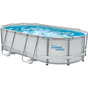 Summer Waves Active Frame Oval Pool 4,24 m x 2,5 m x 1 m