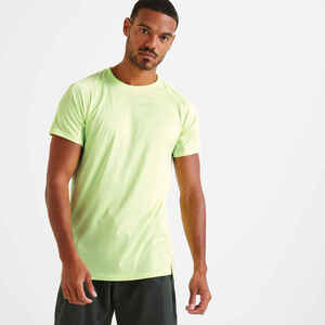 Funktions-T-Shirt Fitness gelb