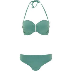 Desirée Bikini, Soft-Cups, seitlich gerafft, Metallschließe, Neckholder, elegante Optik, für Damen
