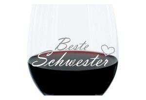 LEONARDO Weinglas »mit Gravur, Beste Schwester, Geschenk, 400 ml«, Glas