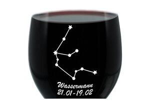 LEONARDO Weinglas »mit Gravur, Sternbild Wassermann, Geschenk«, Glas