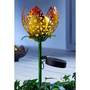 Solar-Stab im Lotus-Design, ca. 13x40cm
