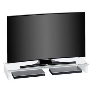 Livetastic Tv-aufsatz glas weiß  1612  110x12.2x35 cm