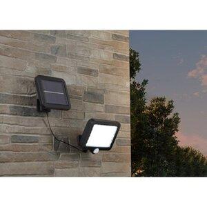 REV Ritter LED-Solarleuchte mit PIR Sensor 300 lm 10.000 K IP44 Schwarz