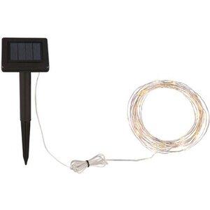 Globo Solar-Lichterkette mit 60 LED Warmweiß