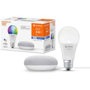 Ledvance Google Home Mini Starter-Set Speaker Kreide + RGBW Leuchtmittel