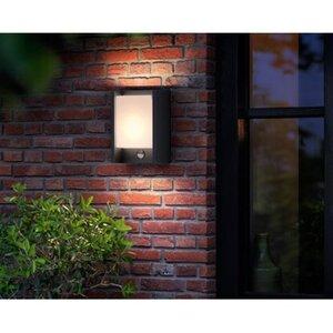 Philips LED-Außenwandleuchte mit Bewegungsmelder Arbour Anthrazit 6 W