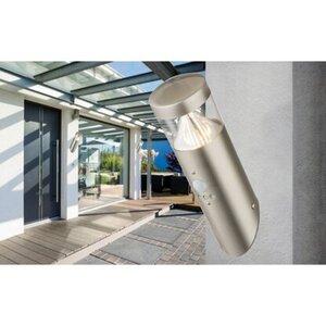 Globo Außenleuchte Fosca Edelstahl mit Sensor EEK: A