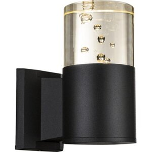 Globo LED-Außenwandleuchte MONIKA Schwarz EEK: A+