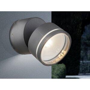 Globo LED-Außenwandleuchte LISSY Aluminium Druckguss Anthrazit EEK: A+