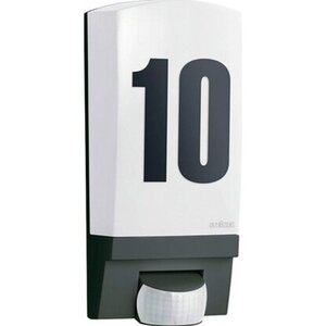 Steinel Außenwand-Hausnummernleuchte mit Bewegungsmelder L 1 Schwarz EEK: E-A++