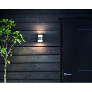 Philips LED-Außenwandleuchte mit Bewegungsmelder Grass Edelstahl EEK: A++