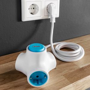 Powertec Electric 3-fach Schukoadpater abschaltbar