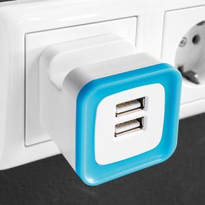 Powertec Electric 2-fach USB-Ladeadapter mit Smartphone-Ablage