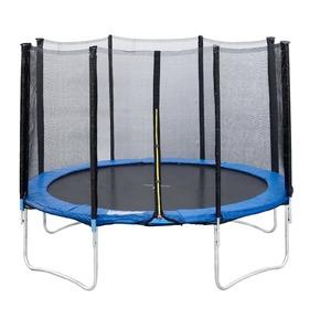 Trampolin mit Netz, Ø 366 cm, schwarz /  blau