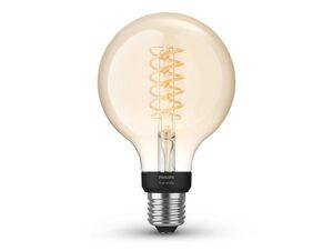 Philips Hue Globe, E27 Vintage Glühbirne, für Hue Lichtsystem, Bluetooth