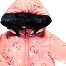 Bild 3 von Baby Mädchen Winterjacke mit Kapuze