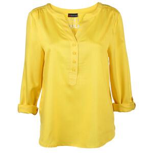 Damen Blusenshirt mit krempelbaren Ärmeln
