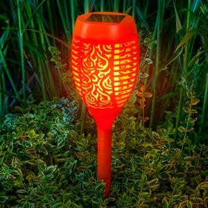 I-Glow LED-Solar-Gartenfackel, Orange