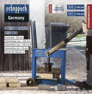 Scheppach Steintrenner HSC130