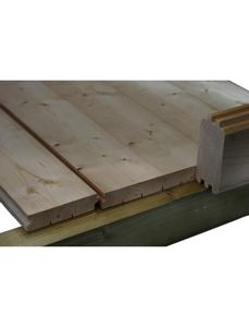 Fußboden für Gartenhäuser, BxHxt: 400 x 18 x 300 cm, Fichtenholz