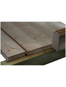 Fußboden für Gartenhäuser, BxT: 380 x 380 cm, Fichtenholz