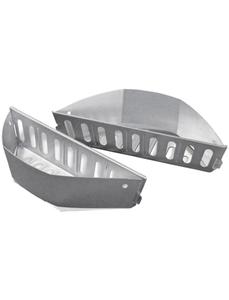 Holzkohlekörbe, Stahl, BxH: 35,9 x 9,4 cm