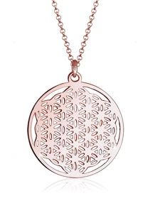 Elli Kette mit Anhänger Ornament Lebensblume Symbol 925 Sterling Silber