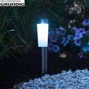 Grundig Solarlampe mit 2 LED 7,5x56cm