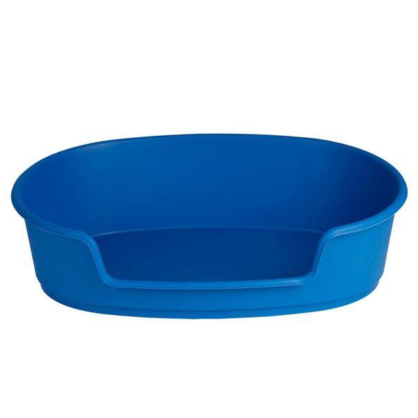 Haustierkorb Kunststoff 70cm Blau