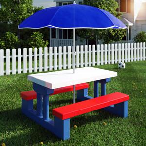 Deuba Kinder Sitzgruppe mit Sonnenschirm