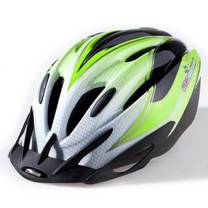 Topvelo Fahrradhelm für Kinder / Jugendliche, Motiv Weiß / Grün