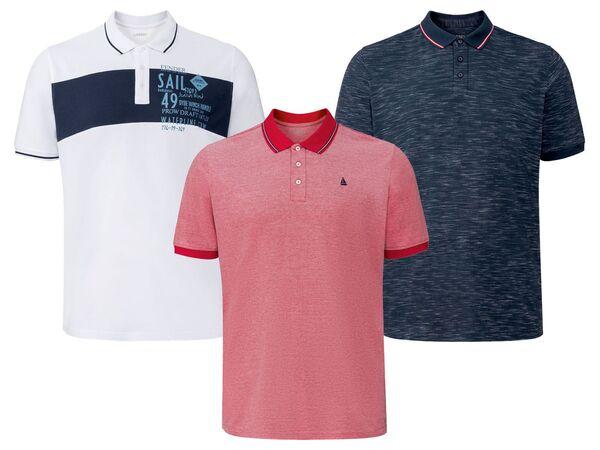 LIVERGY® Poloshirt Herren, mit Baumwolle